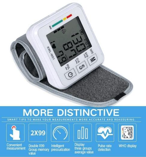 Portable Wrist Strap Blood Pressure Device (4)