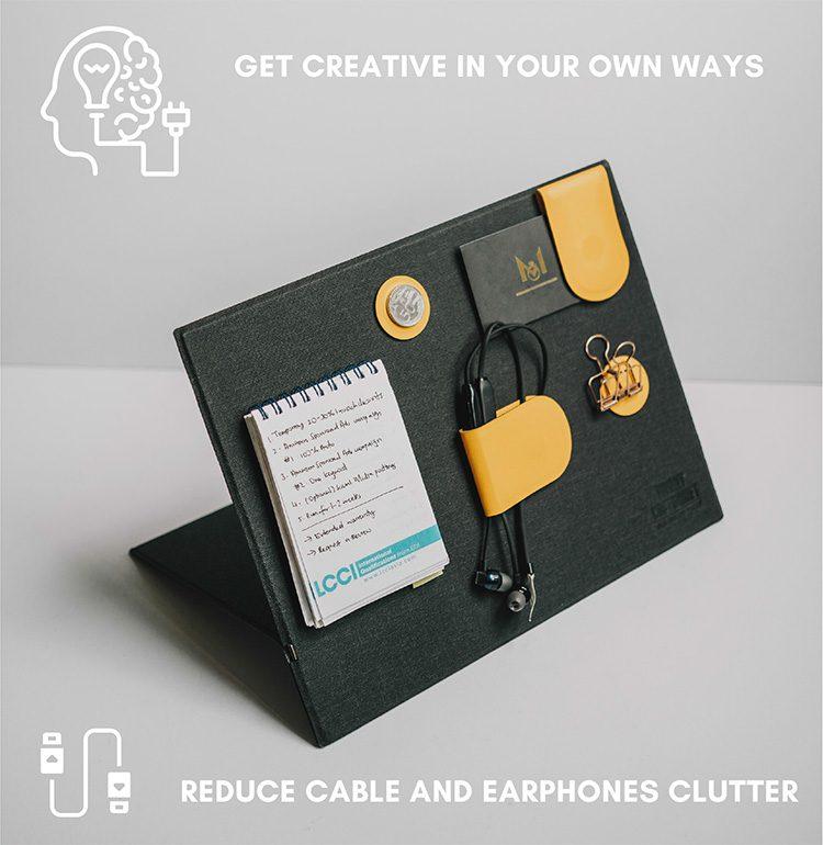 Magnetic-Modular earphone clutter