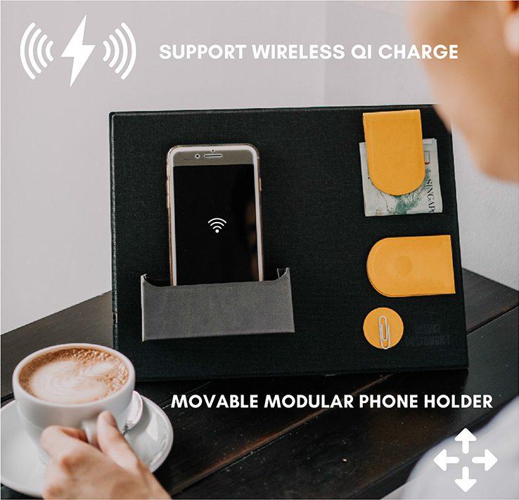 moveable modular phone holder